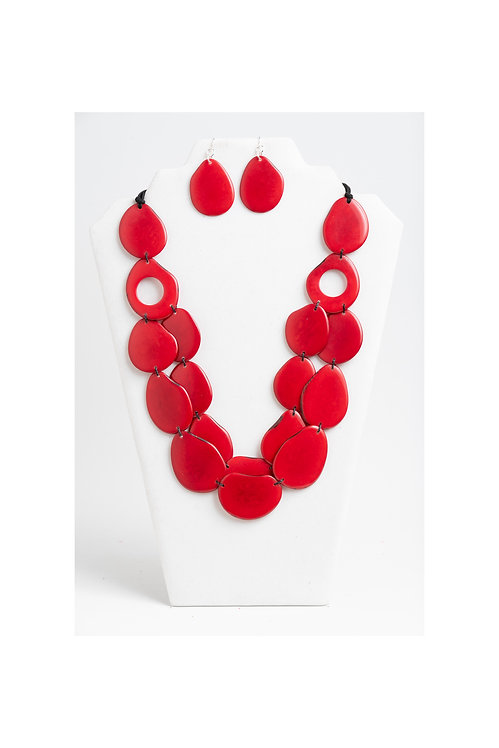 Amora Necklace | Red