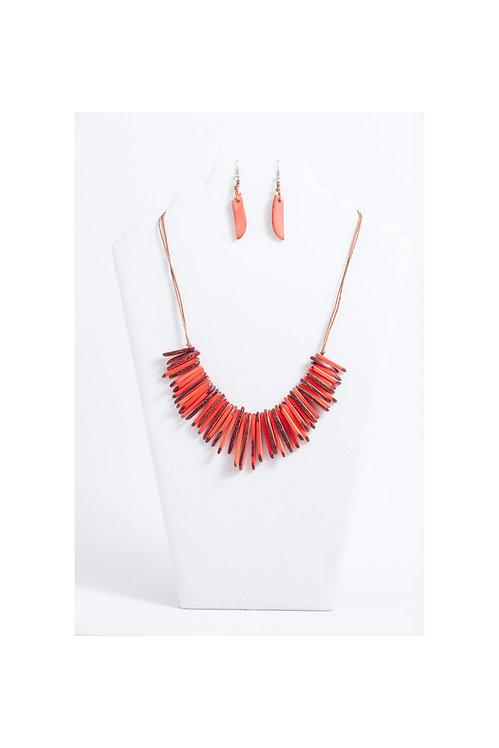 Macaw Necklace Set | Orange