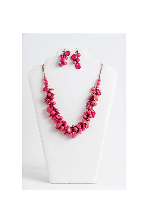 Sky Necklace Set | Berry Pink