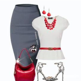 Zaley Necklace Set   Red