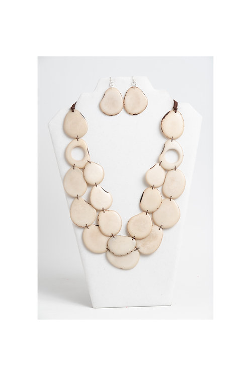 Ivory Handmade Necklace and Earrings