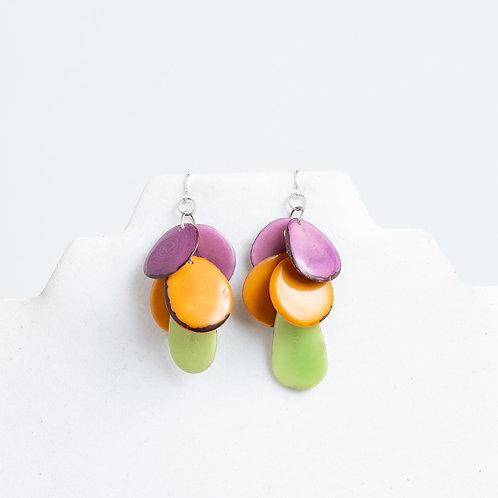 rainbow handmade earrings