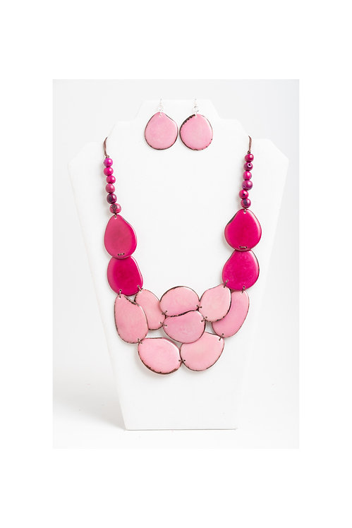 Jasmine Necklace Set | Pink