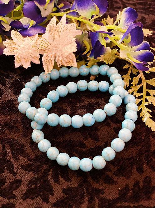 Turquoise Bead Bracelet for Energetic Flow & Sacred Spirituality