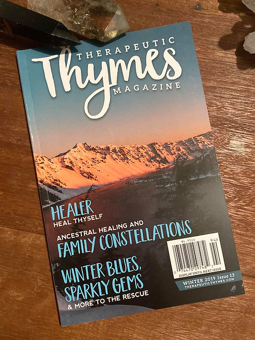 Therapeutic Thymes Magazine Featured Article Autographed by Christina