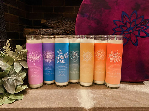 Divine Chakra Infused Oil Blend Candle for Healthy Alignment & Harmony