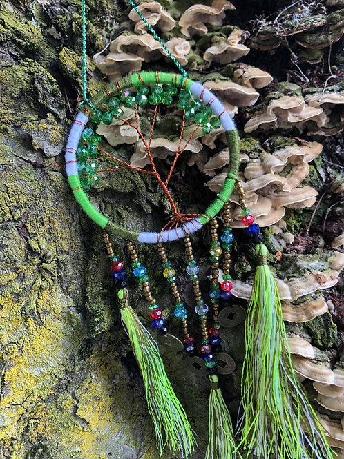 Green Bead Bohemian Dreamcatcher
