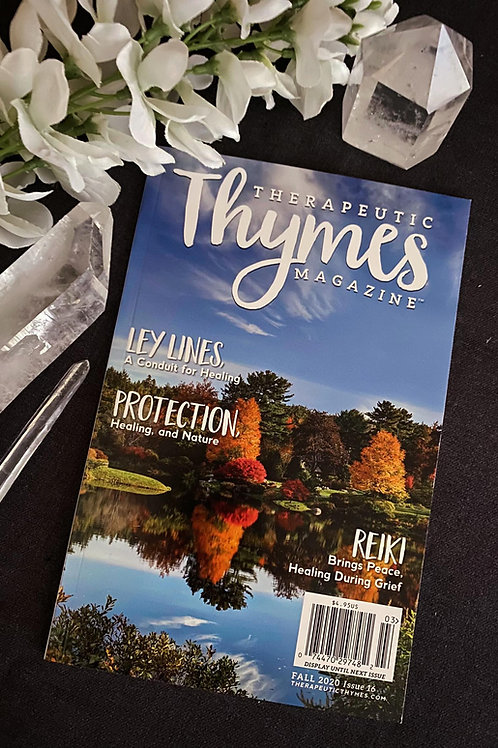 "Thymes Fall Edition Magazine ""Lumerian Article"" Signed Copy"