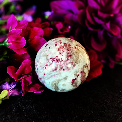Pink Tourmaline Sphere for Protection Over Love in Relationships