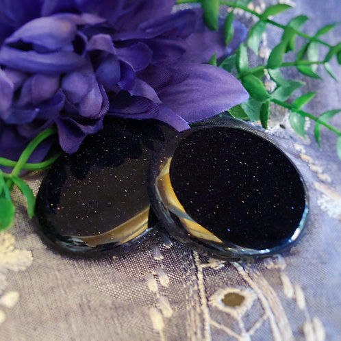 Panic Protection Blue Goldstone Bra Stones for Relieving Anxiety