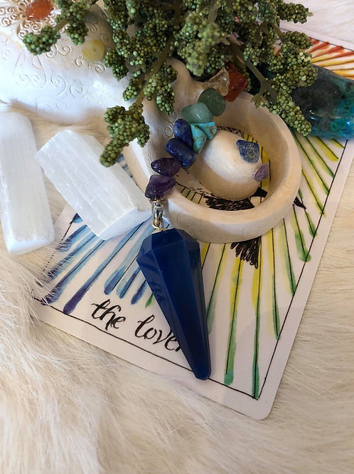 Blue Onxy Chakra Pendulum