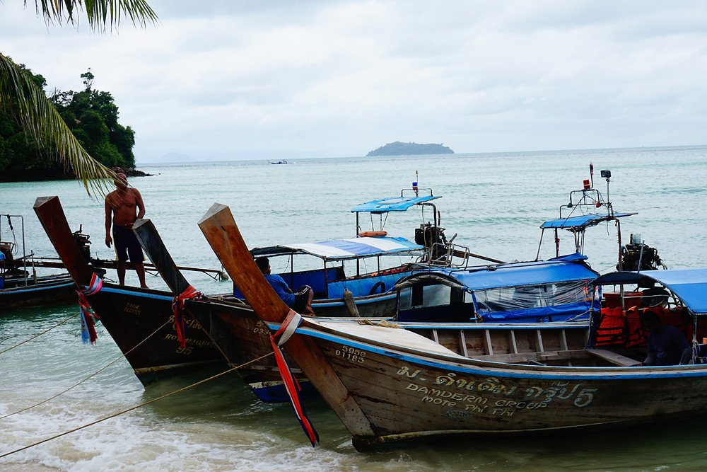 longtail boat phi phi islands