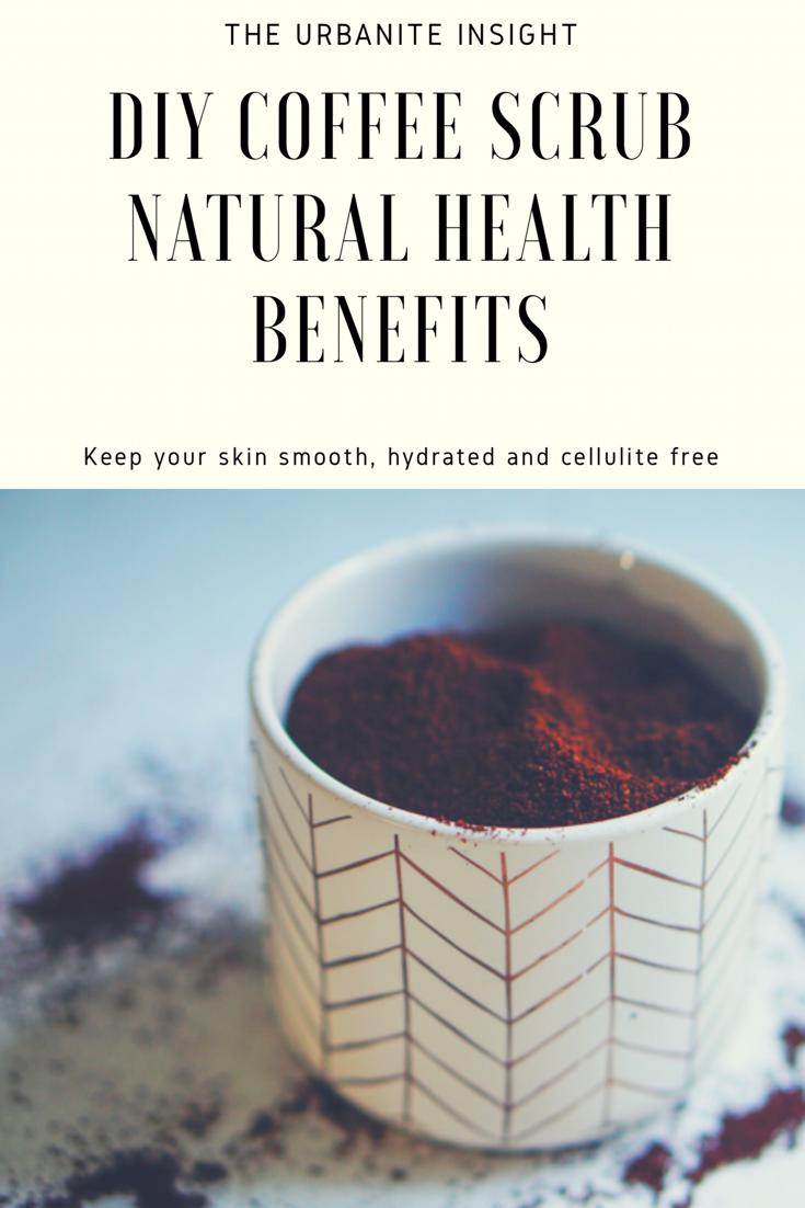 diy coffee scrub with essential oils