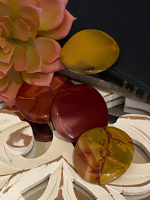 Smooth Mookaite Flat Palm for Calming the Obsessive Mind