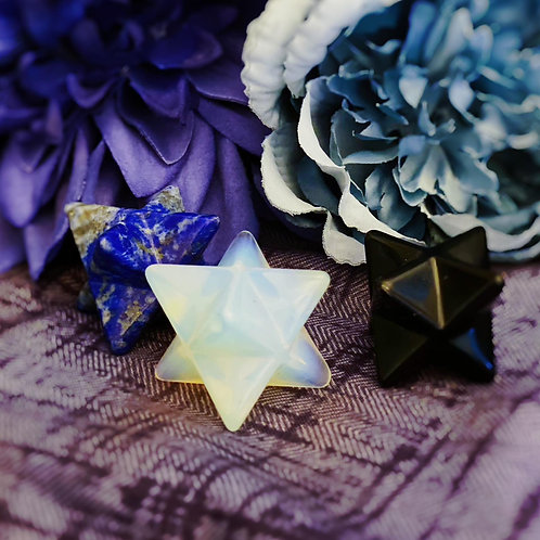 Sacred Merkaba Crystal Star for Activation of Light & Protection