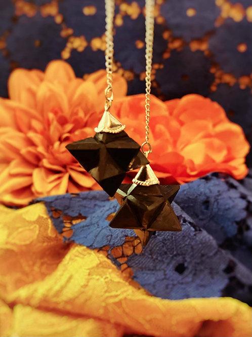 Shungite Merkaba Pendulum for Sacred Grounding