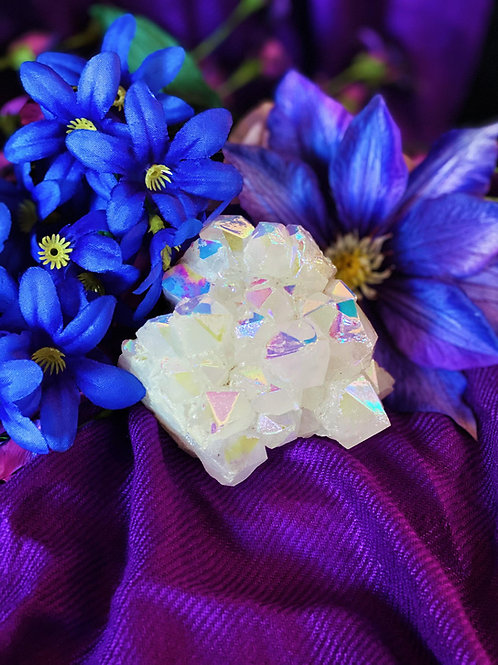 Angel Aura Quartz Cluster for Powerful Rejuvenation