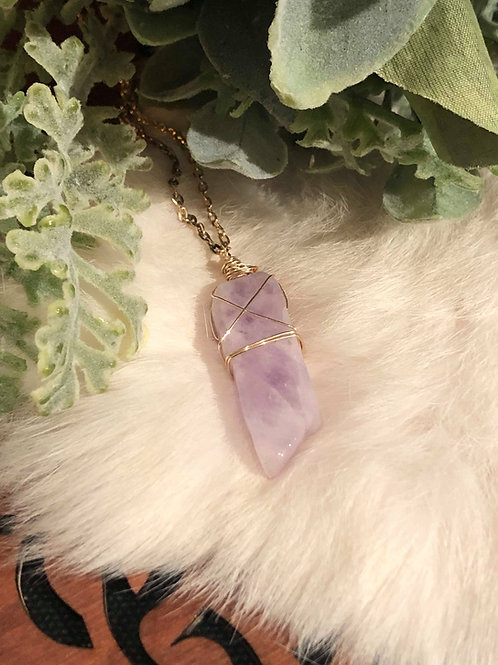 Amethyst Healing Wrap of Third Chakra Frequency Enlightenment