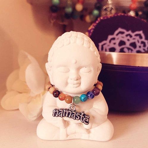 Namaste Chakra Buddha Mini Statue