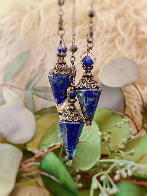 Lapis Lazuli Orgonite Pendulums for Divinational Work