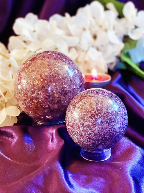 Lepidolite Stabilizing Spheres for Claiming Your Mood & Dream Recall