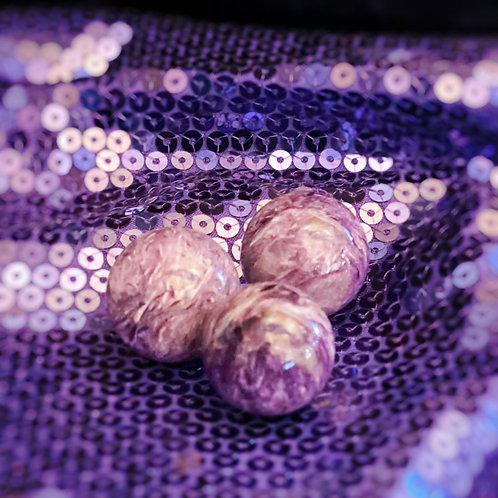 Charoite Spheres for Intuition & Psychic Protection