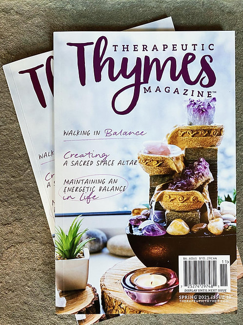 Signed Copy of Therapeutic Thymes Magazine - Spring 2021 Edition