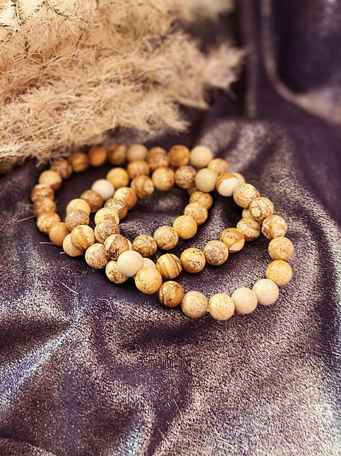 Picture Jasper Bracelets for Overcoming Past & Present Fears