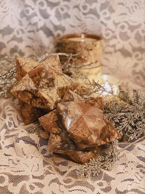 Snowflake Agate Merkaba for Grounding Light Energy for an Overwhelmed Soul