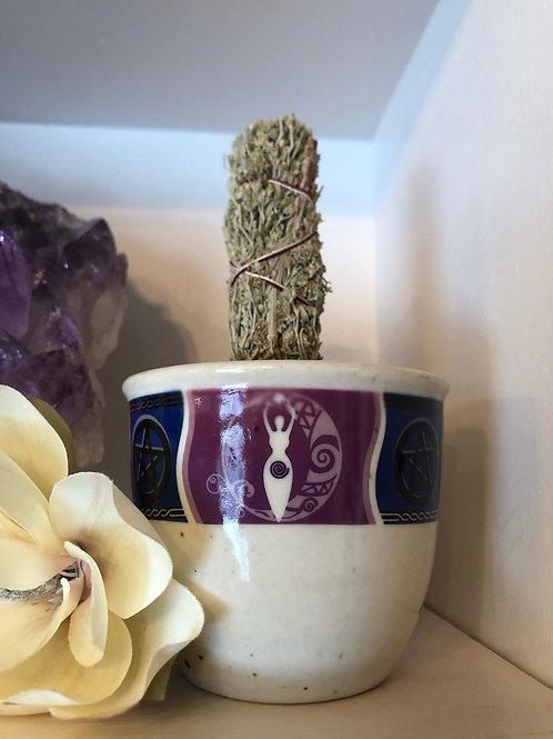 Goddess Small Pillar/Sage Holder