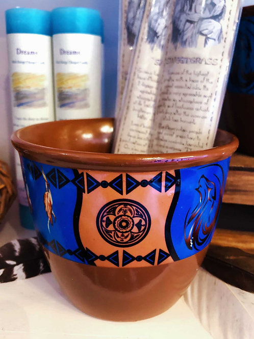 Native American Smudge/Candle Pot