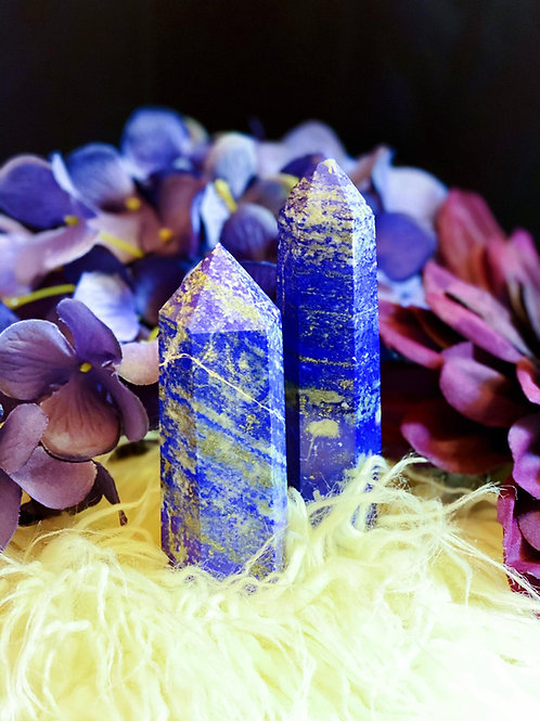 Lapis Lazuli Pillar Wand for Honoring Your Intuition & Insight