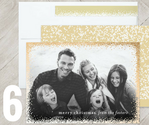 gold holiday card