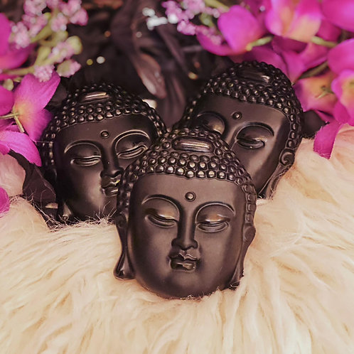 Black Onyx Buddha Head for Removing Fear from the Mind