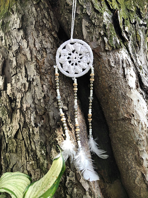 White & Beige Dreamcatcher