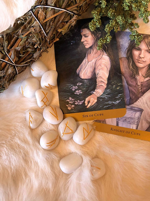 White Onyx Rune Set to Connect to Higher Divinity
