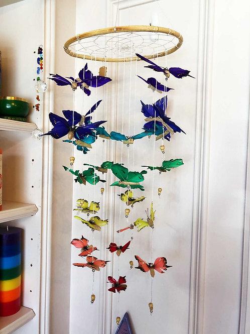Colorful 3D Chakra Butterfly Dreamcatcher