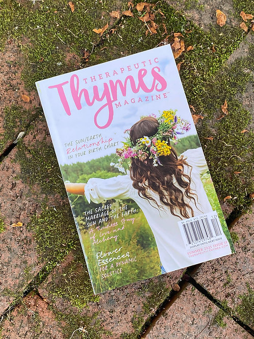 Signed Copy of Therapeutic Thymes Summer Edition 2021
