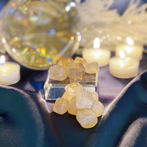 Citrine Rune Set for Divination & Spiritual Work