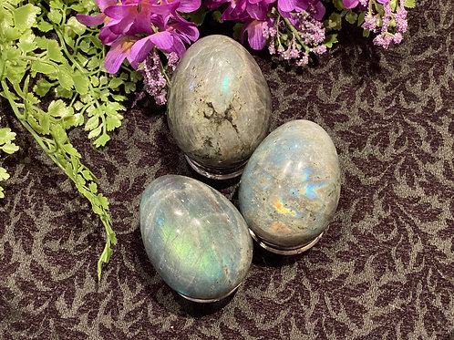 Labradorite Egg for a Lunar Flash of Intuition