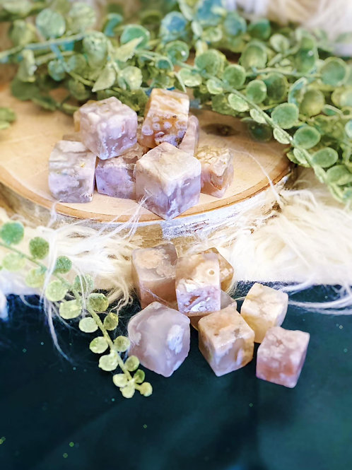 Beauty Flower Agate for Happiness & Calm