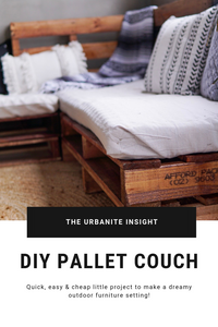 How to make outdoor pallet furniture
