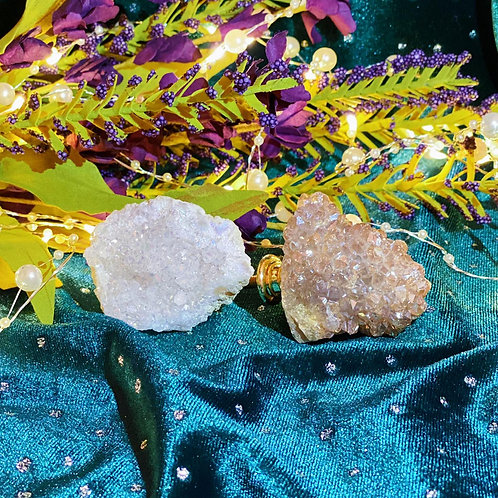 Geode Door Handles Set for Transmuting Negative Energy