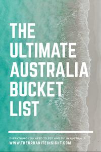 the ultimate australia bucket list