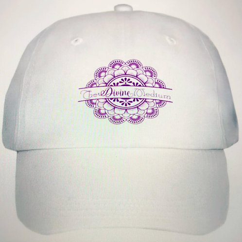 Divine Purple Logo White Hat
