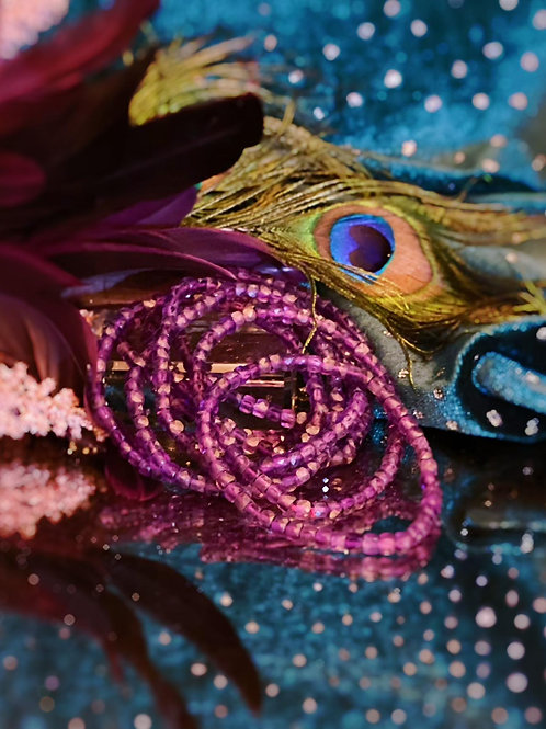 Amethyst Crystal Bead Bracelet for Ultimate Healing