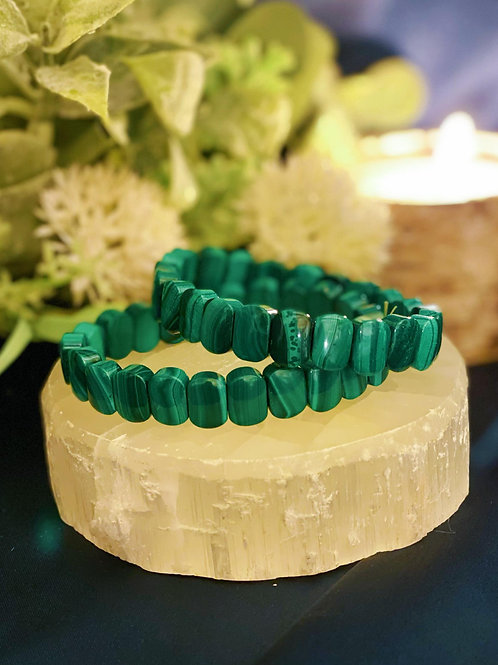 Signature Malachite Bead Bracelet for Purified Healing