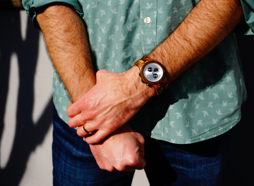gifts for him: wood watches