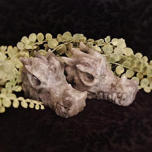 Labradorite Dragon Head for Transformation, Manifestation, & Mystical Powers