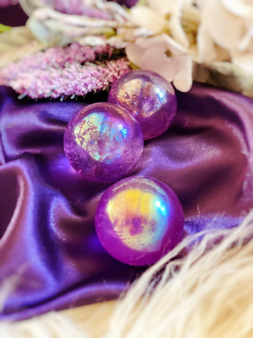 Aura Quartz Sphere for Energy Amplification and Master Healing